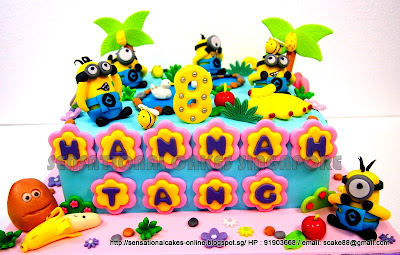 Cake Singapore , Online Cakes Singapore : MINIONS GARDEN CAKE