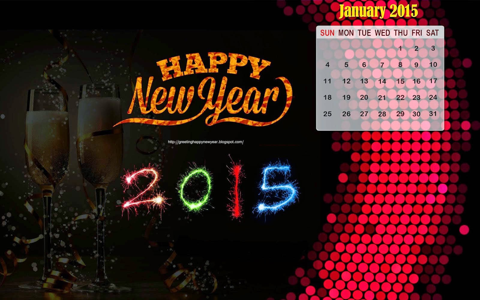 Happy New Year 2015 - Calender For Special HD