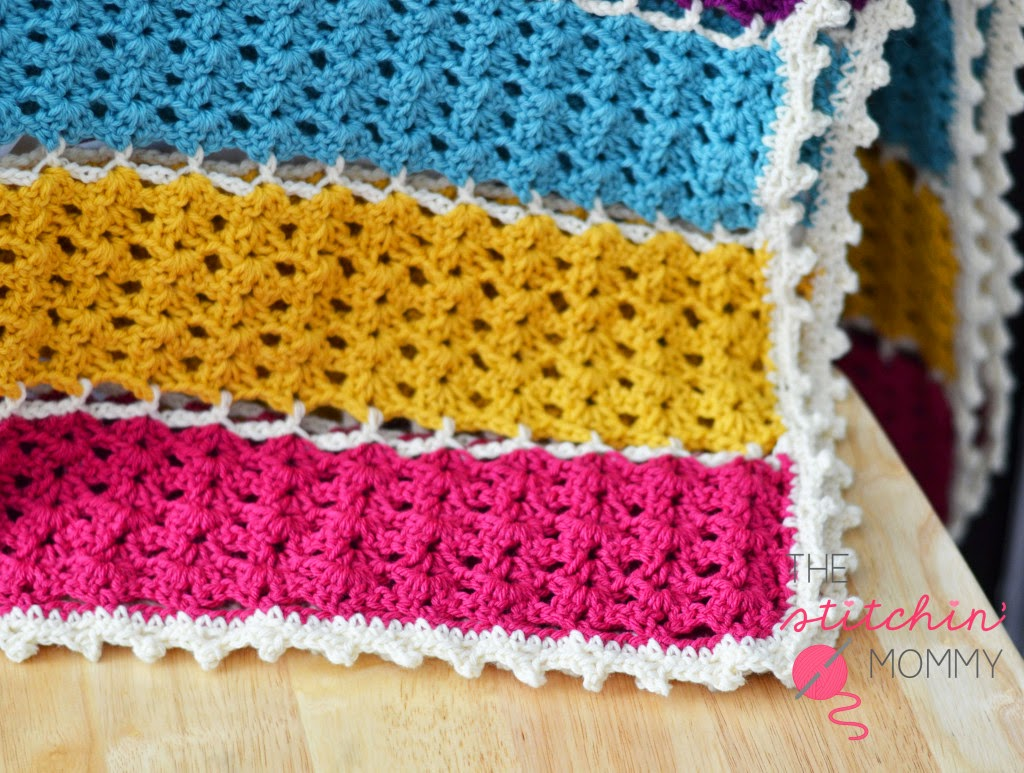 free crochet pattern jewel tone lattice afghan