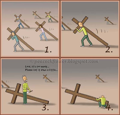 Illustration of crosses to depicts the work of God #1