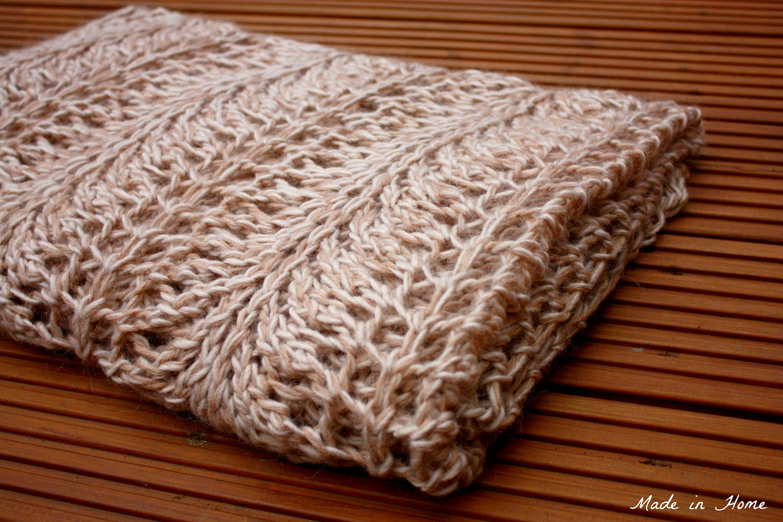 Made in Home: Creamy Buttery Blanket {knitting pattern}