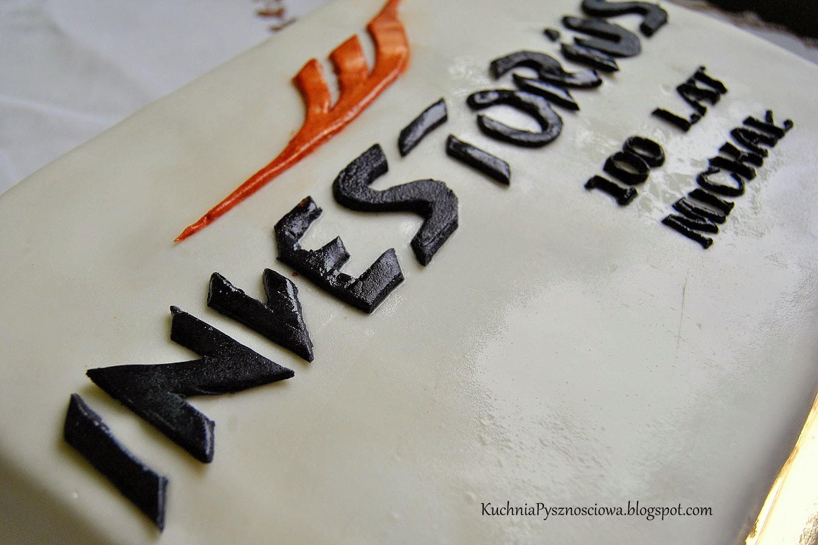 Tort z logo dla agencji nieruchomości