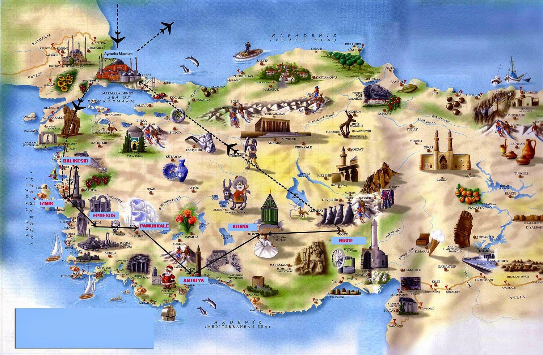 Peta Wisata Turki