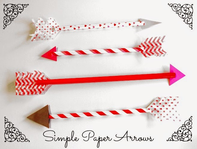 Valentine's Day Paper Arrows Tutorial at The Blog Guidebook