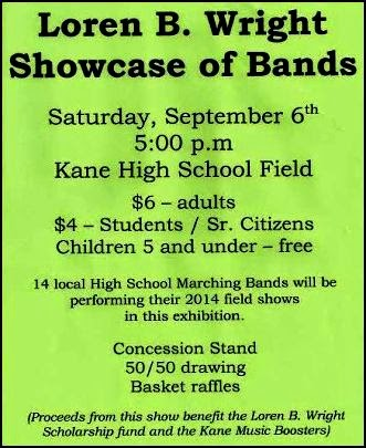 9-6 Showcase of Bands, Kane, PA