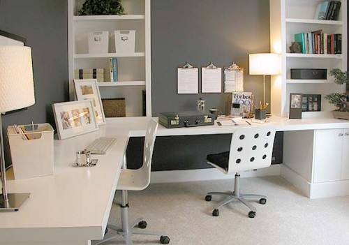 Home Office Layout Ideas: Home Decorating Photos: Small Office Design Ideas