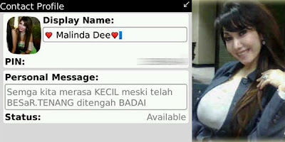 PIN BlackBerry Melinda Dee