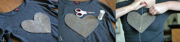 DIY heart sweater