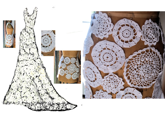Wedding Gown Victorian Dolly Dress - Crochet Patterns, Free