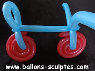 vélo en ballons
