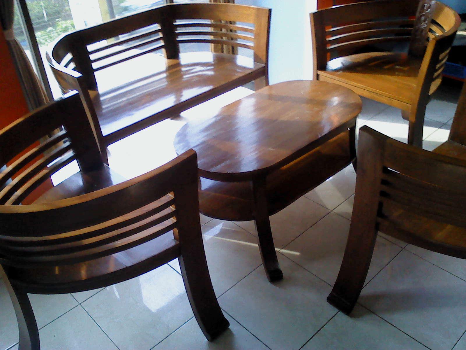 Seken Malang Sold Out Meja Kursi 1 Set Bahan Full Kayu Jati Cocok Untuk Ruang Tamu Rp1650000