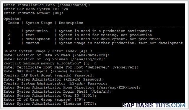 SAP HANA Install 4