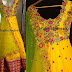 Rich Yellow Work Salwar by Mugdha