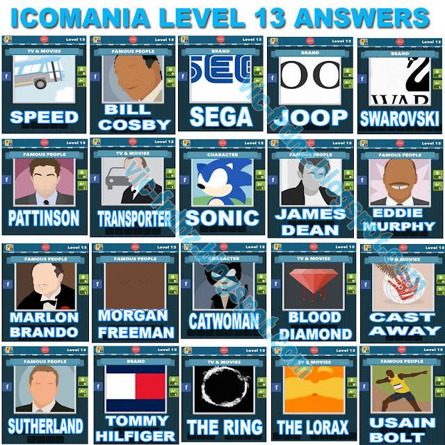 Icomania Level 13 answers