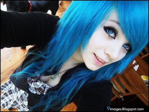 Pretty Girls With Blue Hair blue-hair, cute...
