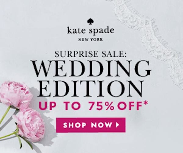 my luxefinds kate spade sale wedding edition