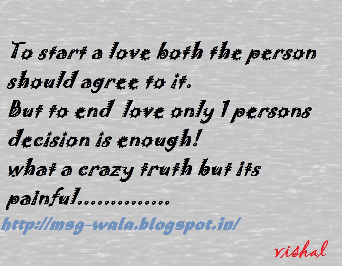 Sms Shayari: crazy truth of love....