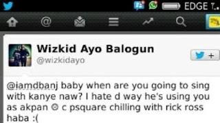 Wizkid Insults Dbanj On Twitter!