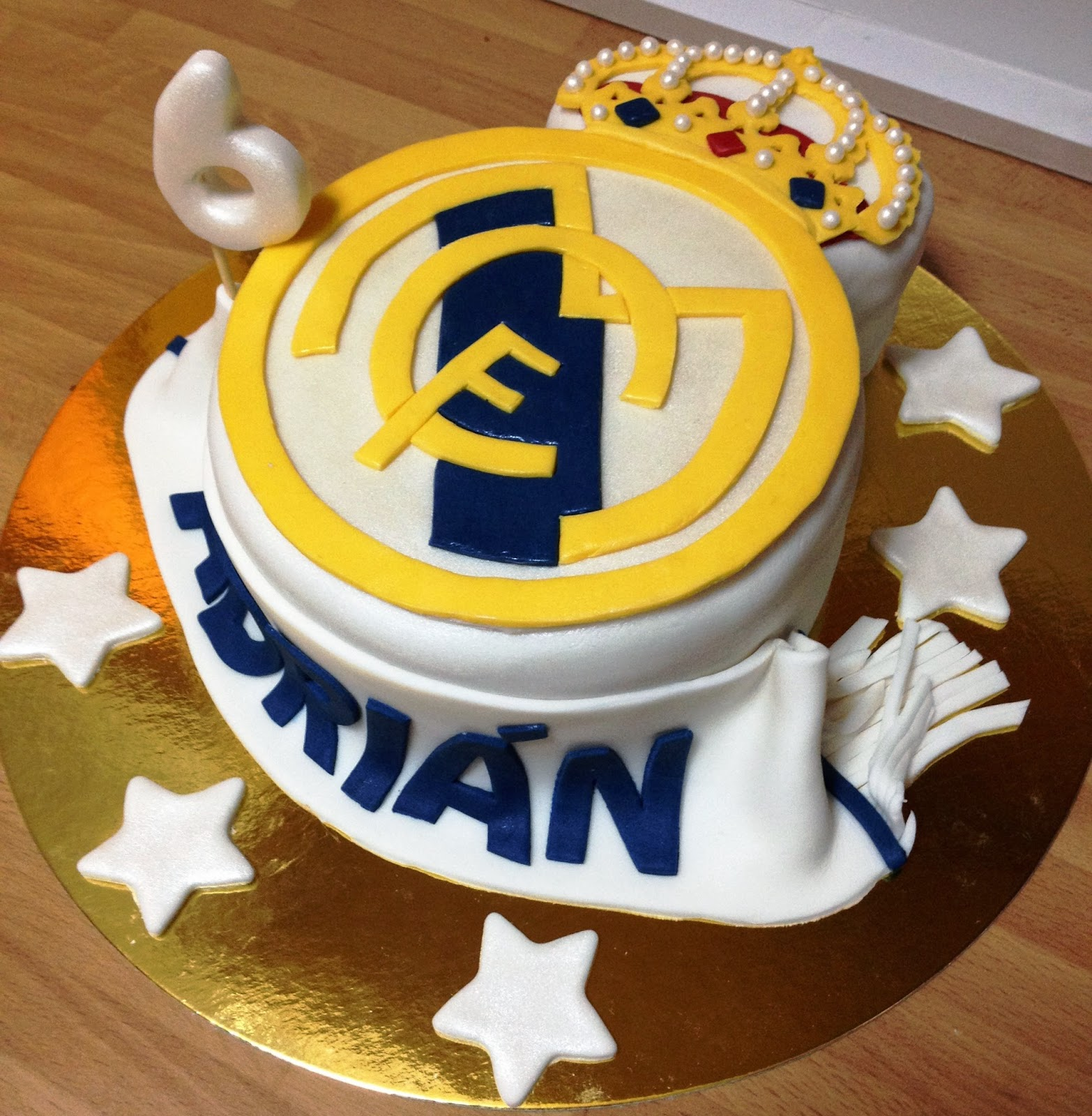 tarta fondant real madrid, real madrid, tarta torta, fondant