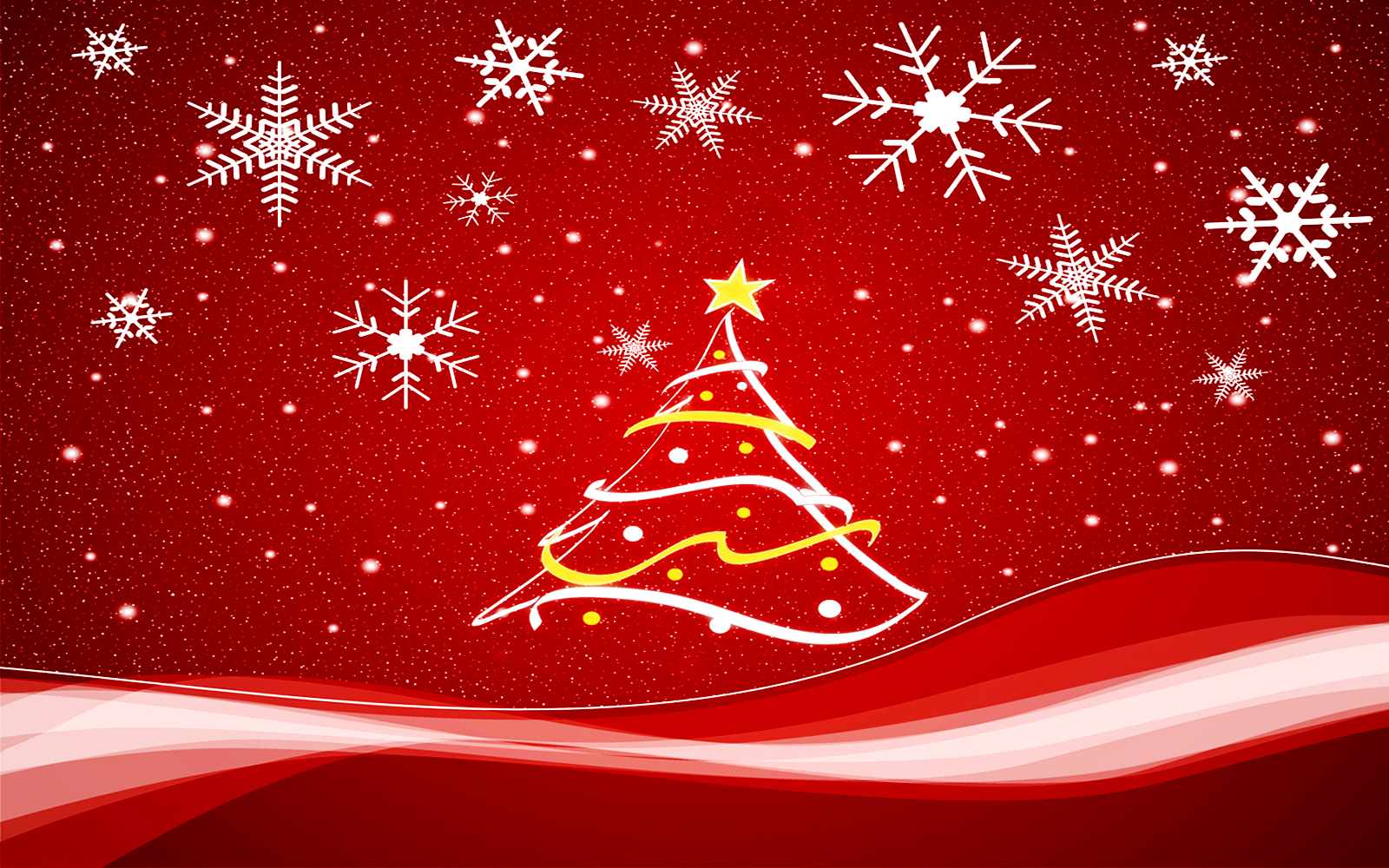 Christmas Tree Vector HD Wallpaper