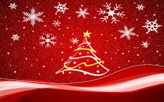 Christmas Tree Vector Design Wallpaper