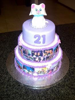 Tanya's 21st Cake
