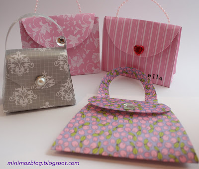 paper crafts for kids: pretty paper purses tutorial and printable