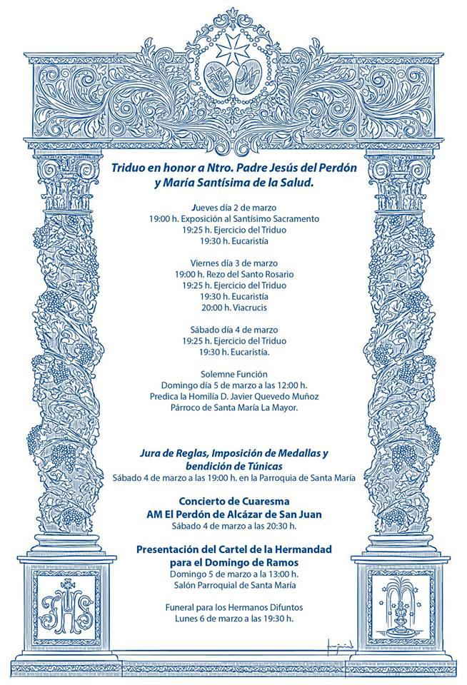 """Cultos de la Hermandad de """"La Salud"""""""