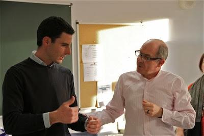 Rubén Valbuena y Javier Gila en la AMS. blog Esteban Capdevila