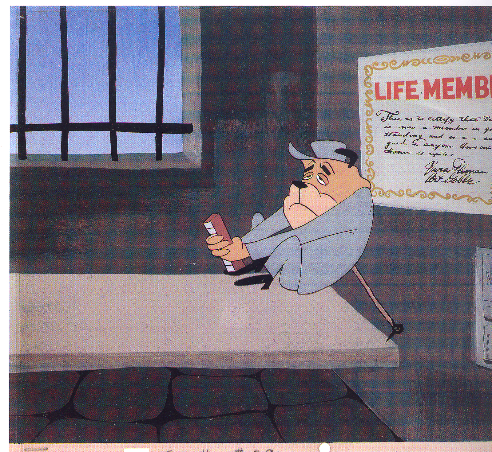 On That Certificate On The Jail Cell In Tex Avery S Cellbound