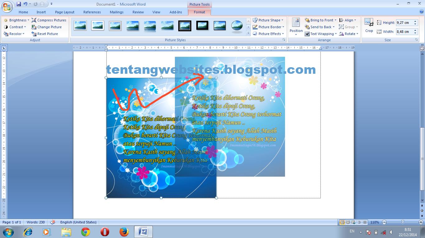 Cara memindah gambar pada aplikasi microsof office word