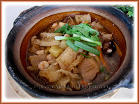 Claypot Fish Maw with prawns+mushroom