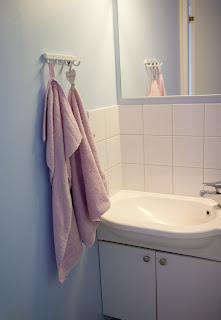 vessa siniset seinät pyyhenaulakko