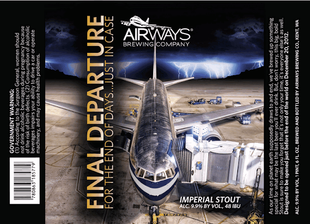 Airways Brewing Company Final Departure Label Design