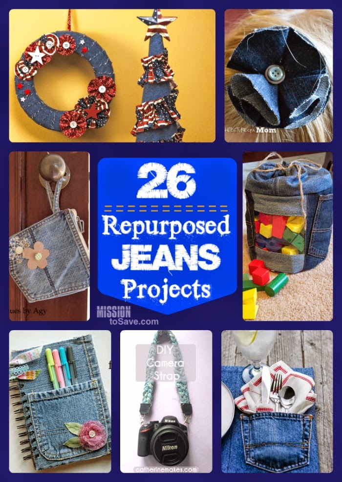 25+ Repurposed Jeans DIY Projects