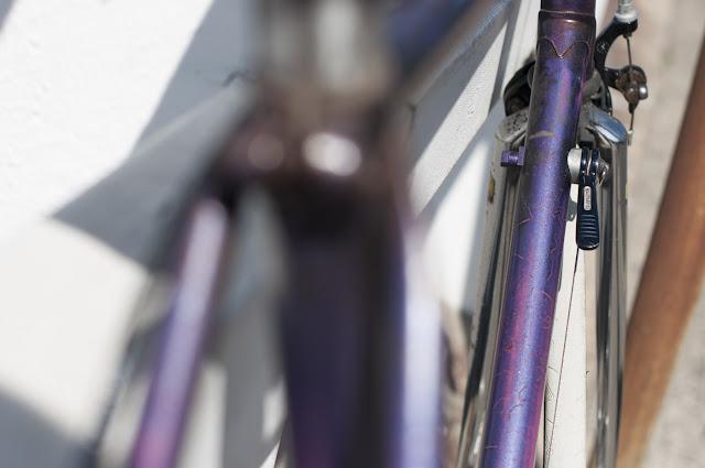 1980's, Australia, bespoke, bicycle, bikes on the street, biketorialist, bondi, campagnolo, columbus, columbus tubing, custom, frame, new south wales, pub bike, pubbike, purple, retro, street, Sydney, The Biketorialist, the light monkey collective, Tim Macauley, vintage