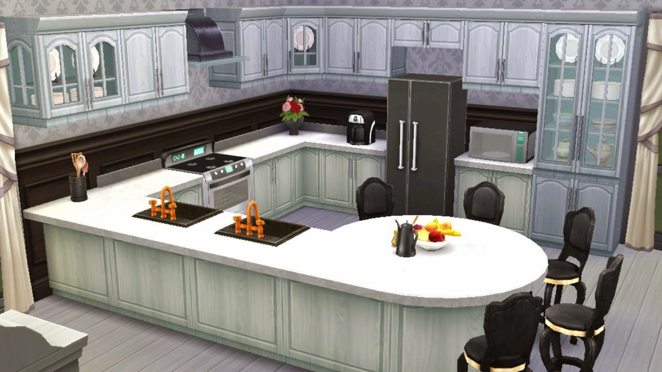 Sims 4 room download black white kitchen sanjana sims for Sims 3 kitchen designs