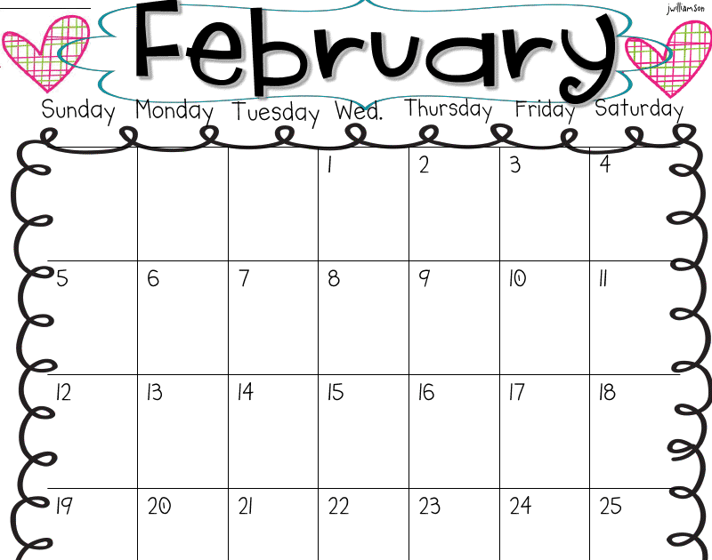 Welcome to Room 36!: February behavior calendar