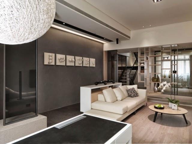 Salas modernas en blanco y gris colores en casa for Sala color gris