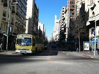 Montevideo Principal street 18 de julio bus
