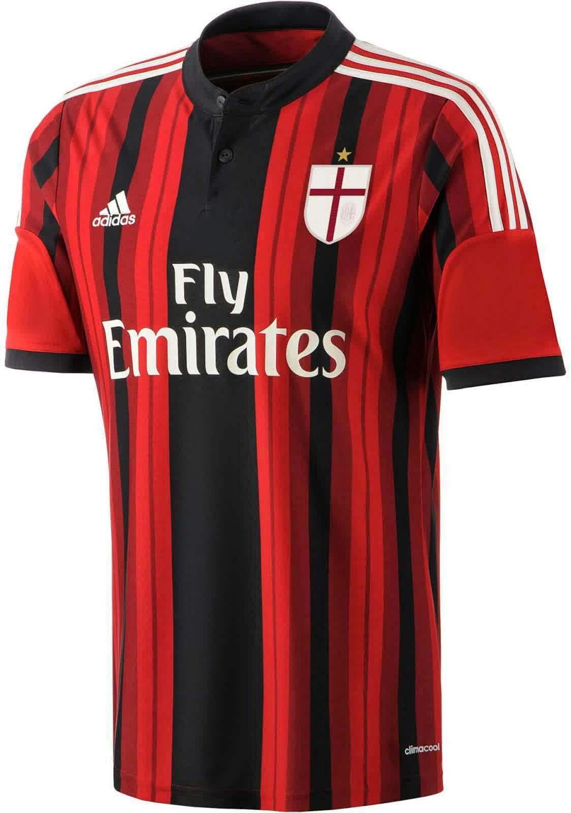 Jersey Ac Milan 2014-2015 terbaru