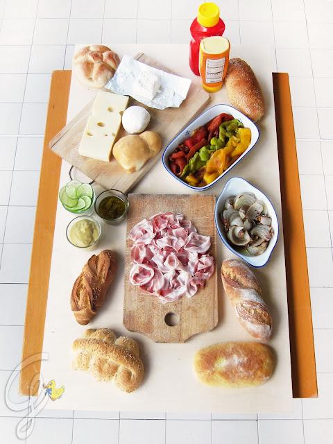 Panino-puzzle: il mio panino d'autore (la tavola)