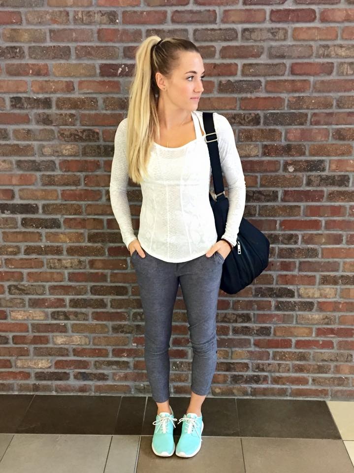 lululemon gray jet crop