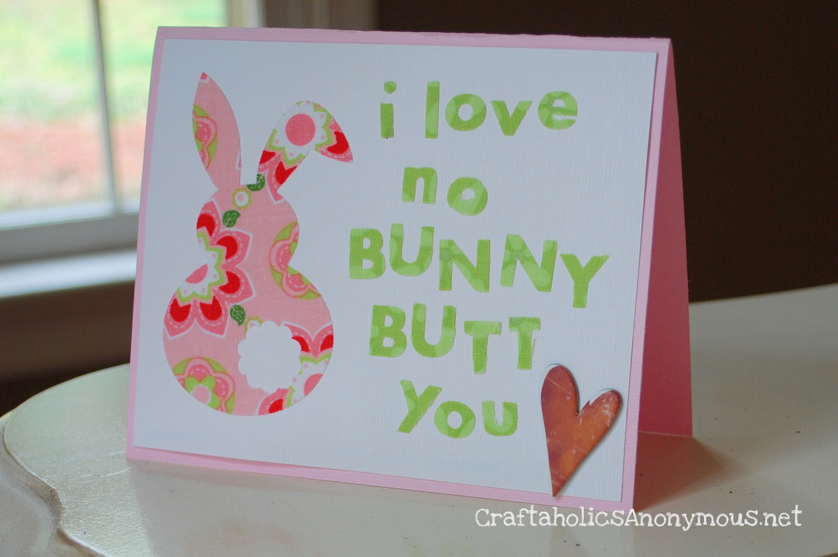 Diy easter bunny cards home concepts top