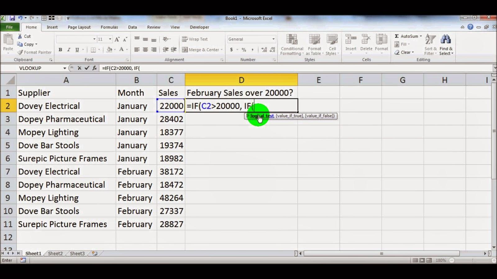 Menguraikan Sintaks Rumus dan Penggunaan Fungsi IF dalam Microsoft Excel