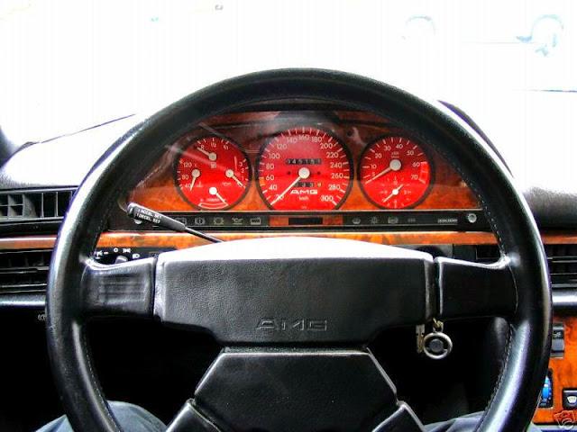 mercedes 126 amg 560sec interior