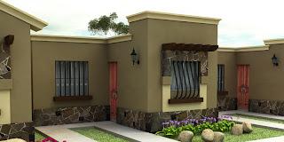 Vector3d solucion creativa integral fachadas casas chicas for Fachadas frontales de casas