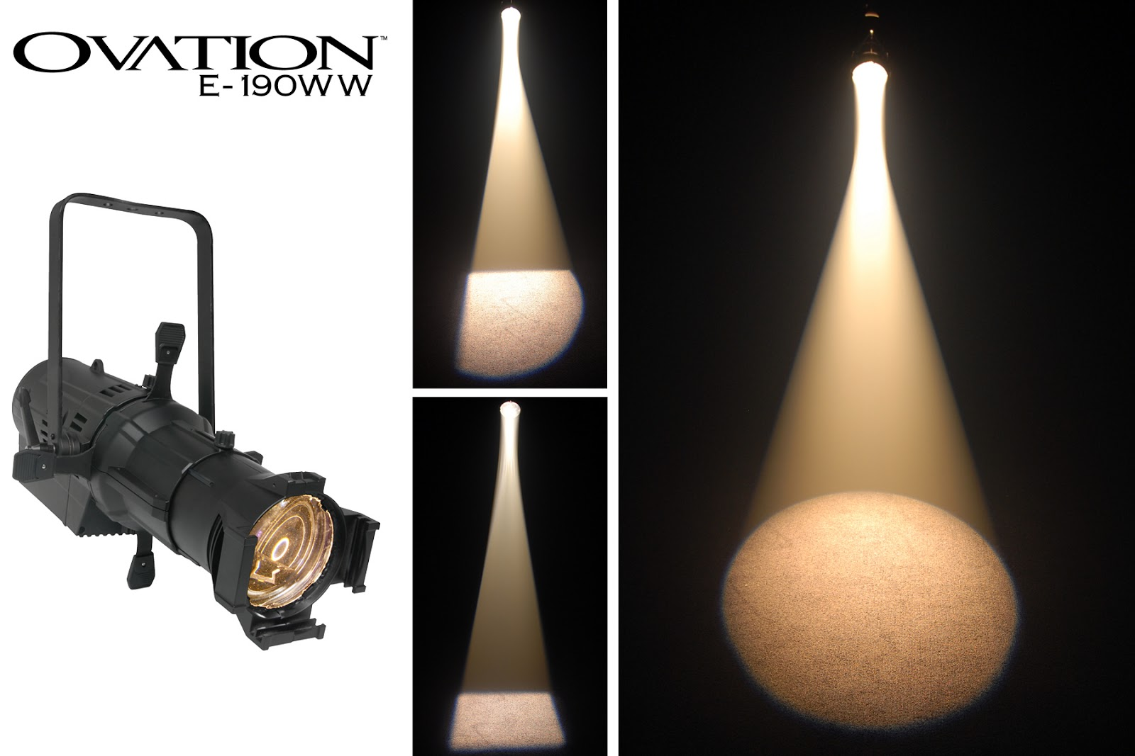CHAUVETR Professional OvationTM F 165WW And E 190WW Luminaires Are Designed Specifically For Theater Stage Powered By 16 10 Watt LEDs