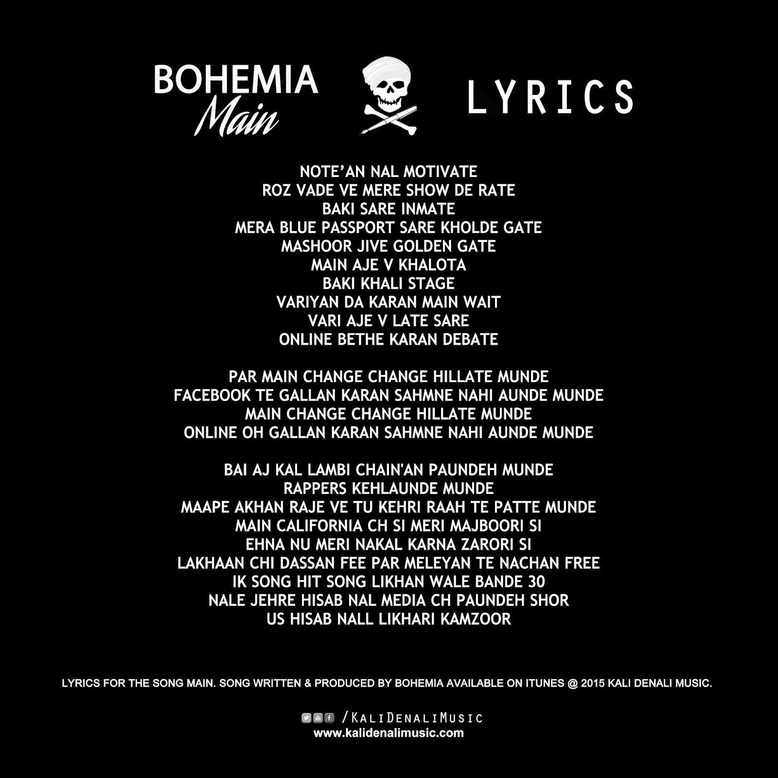 Bohemia – Diwana Lyrics | Genius Lyrics