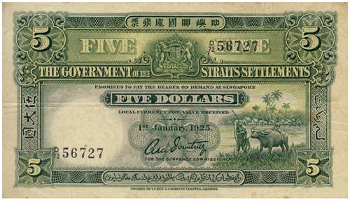 1925 $5 Banknote
